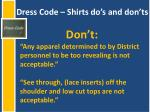 dress code shirts do s and don ts1