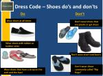 dress code shoes do s and don ts
