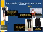 dress code shorts do s and don ts