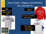 dress code slogans and military do s and don ts1