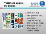 proctor and gamble info session