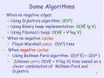 some algorithms