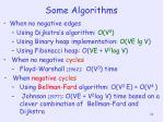 some algorithms1