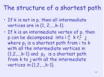 the structure of a shortest path