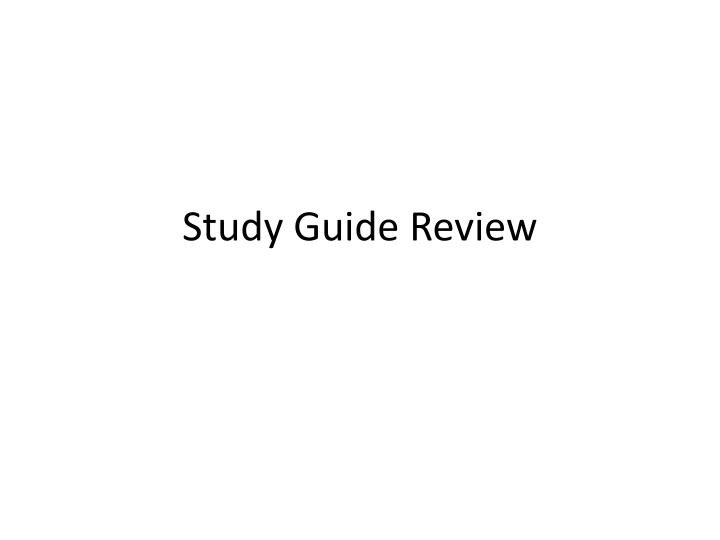 study guide review n.