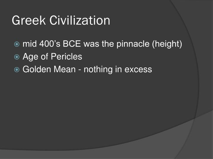 greek civilization n.