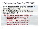believe in god trust