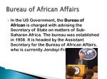 bureau of african affairs