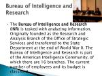 bureau of intelligence and research