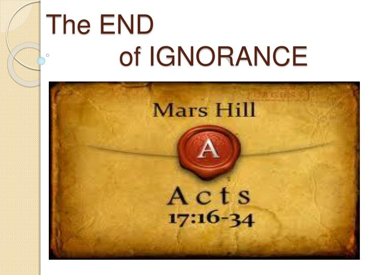 the end of ignorance n.