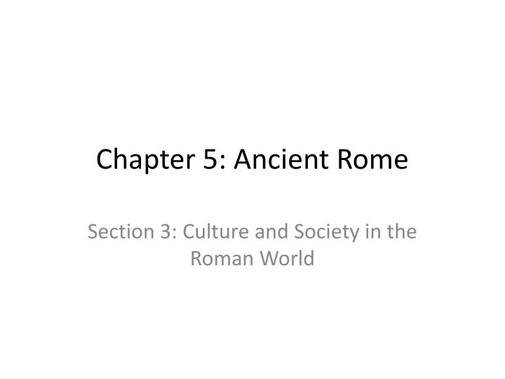 chapter 5 ancient rome n.