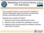 methodology of curriculum review and gap analysis1
