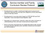 service member and family curriculum review protocol