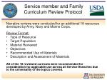 service member and family curriculum review protocol2
