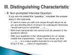 iii distinguishing characteristic1