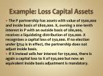 example loss capital assets