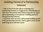 holding period of a partnership interest