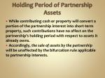 holding period of partnership assets