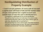 nonliquidating distribution of property example