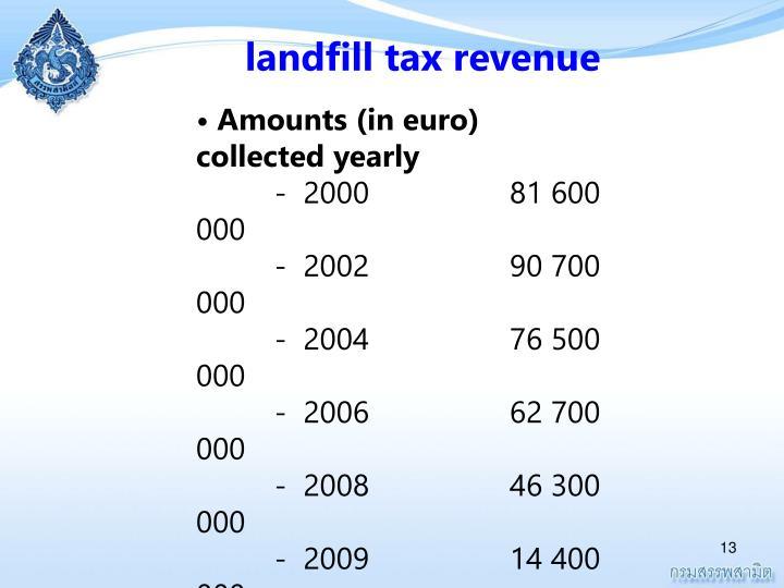 landfill tax revenue