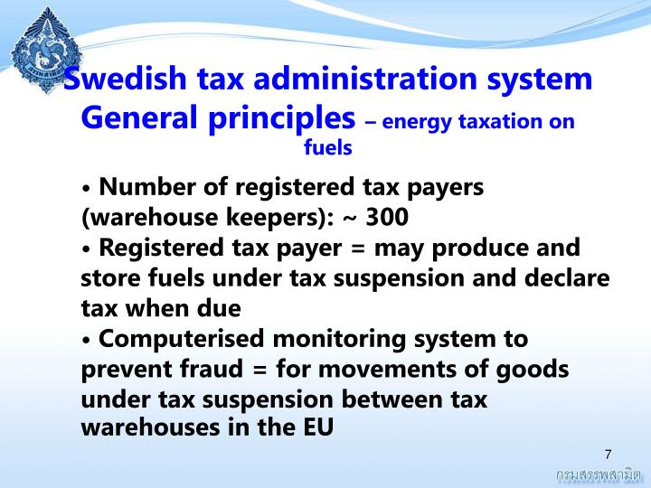 Swedish tax administration system General principles