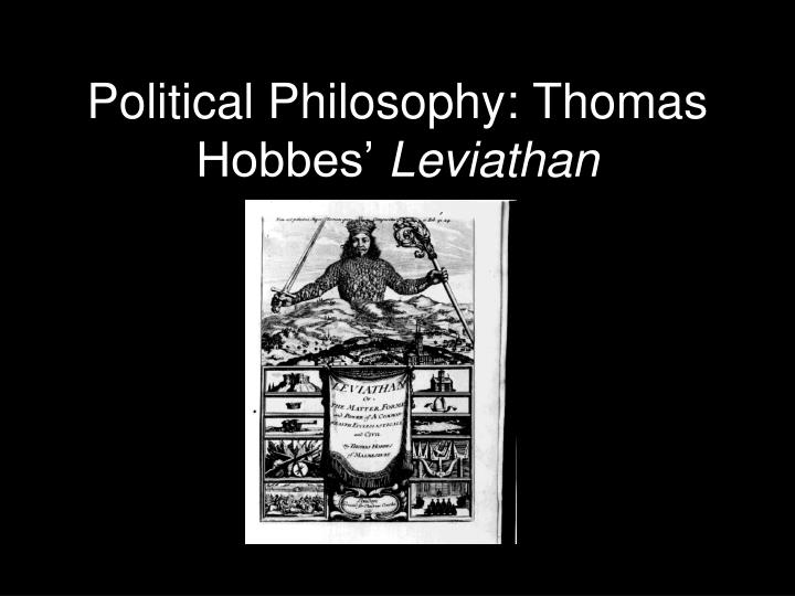 political philosophy thomas hobbes leviathan n.