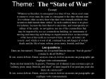 theme the state of war