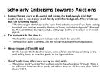 scholarly criticisms towards auctions