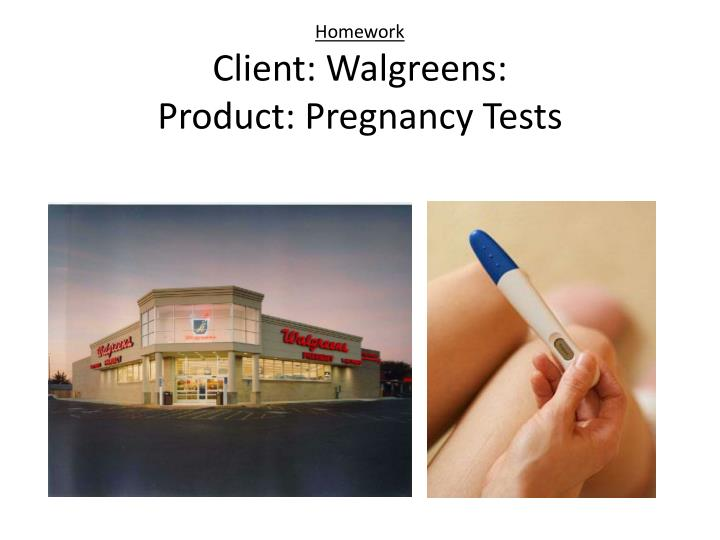homework client walgreens product pregnancy tests n.