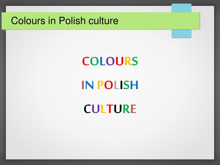 colours in polish culture n.