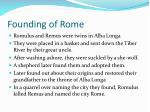 founding of rome