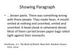 showing paragraph1