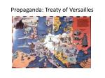 propaganda treaty of versailles