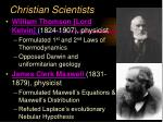 christian scientists12