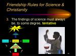 friendship rules for science christianity2