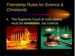 friendship rules for science christianity3