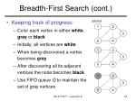 breadth first search cont