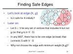 finding safe edges