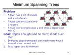 minimum spanning trees
