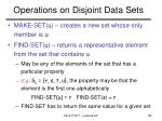 operations on disjoint data sets
