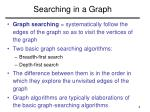 searching in a graph