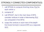 strongly connected components g