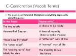 c connotation vocab terms