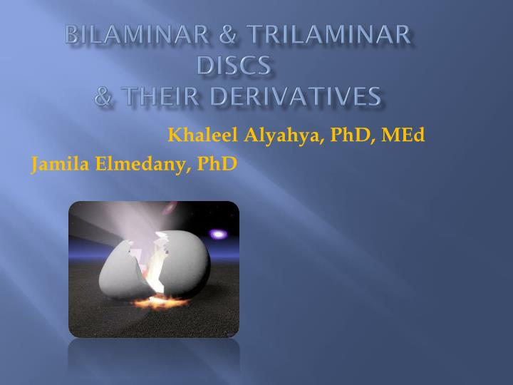 bilaminar trilaminar discs their derivatives n.