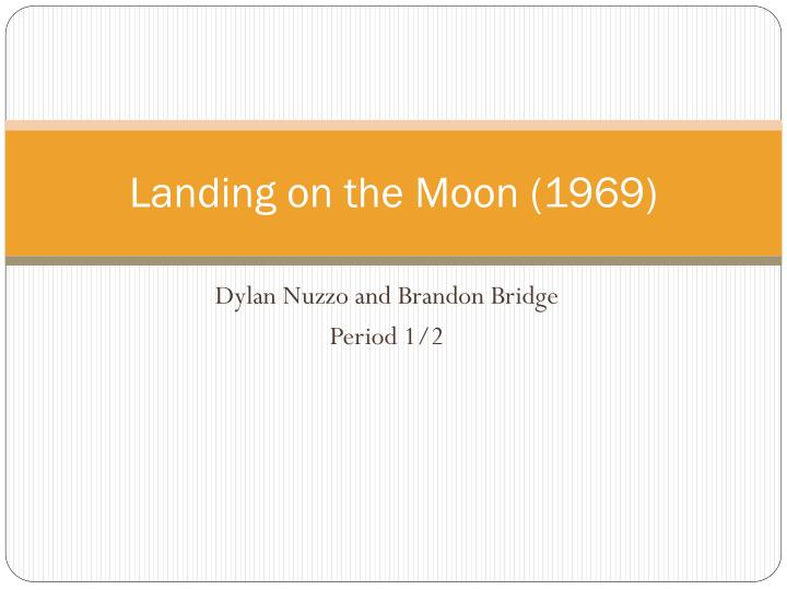 landing on the moon 1969 n.