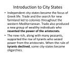 introduction to city states
