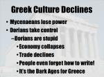 greek culture declines