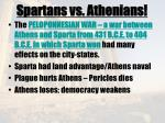 spartans vs athenians