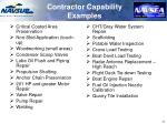 contractor capability examples