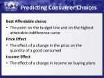 predicting consumer choices